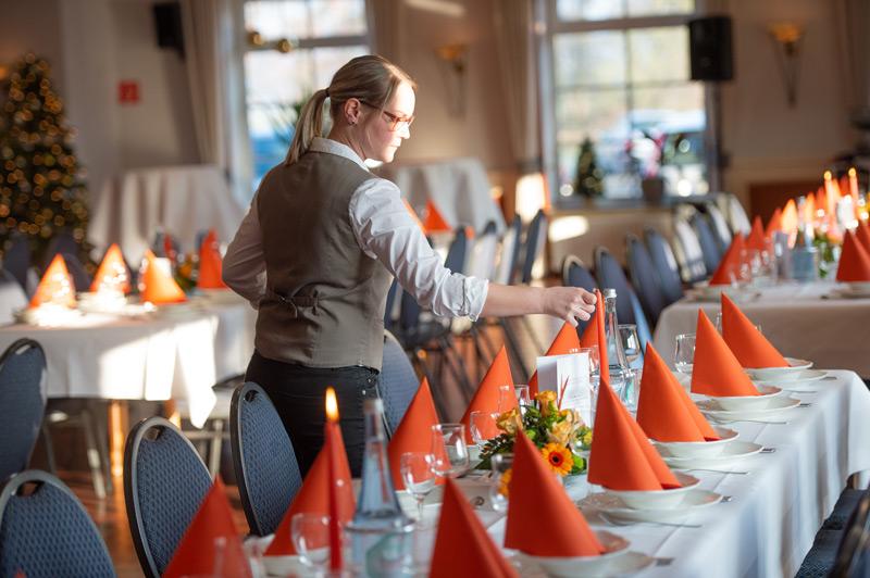 Vorbereitung für ein Feier im Gasthof Buschmann